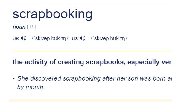 Glossario dello Scrapbooking
