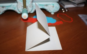 pieghe cartoncino bianco