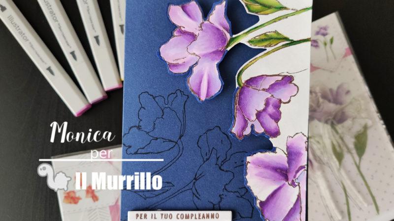 Card Fiorita con Spectrum Noir Illustrator
